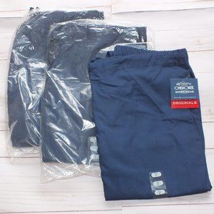 LOT OF 3 CHEROKEE SCRUBS PULL ON PANT S 4001T NAVY
